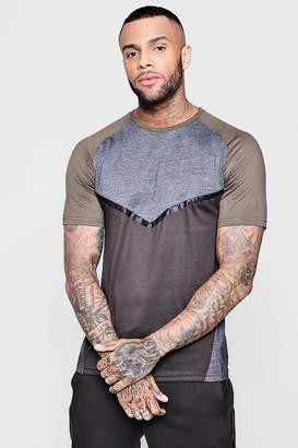 boohoo Colour Block Raglan T-Shirt Short Set
