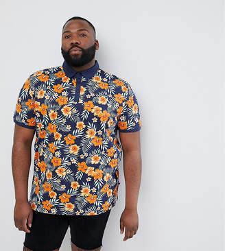 Duke King Size Polo In Tropical Print