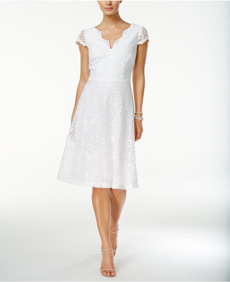 Connected Lace Fit & Flare Dress $79 thestylecure.com