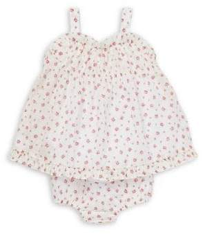36fcf9349a Ralph Lauren Childrenswear Baby Girl's 2-Piece Floral Ruffled Cotton Top &  Bloomers Set