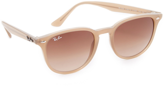 Ray-Ban Highstreet Round Sunglasses $155 thestylecure.com