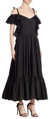 Alberta Ferretti Off-The-Shoulder Cotton Gown