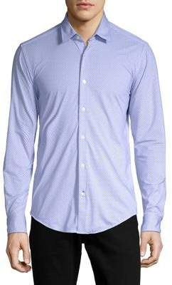 HUGO BOSS Ronni Dobby Button-Down Shirt