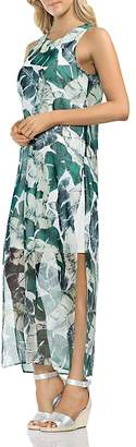 Vince Camuto Jungle Palm Overlay Maxi Dress