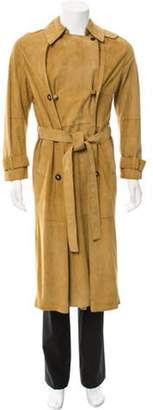 Loewe Double-Breasted Suede Trench Coat Double-Breasted Suede Trench Coat