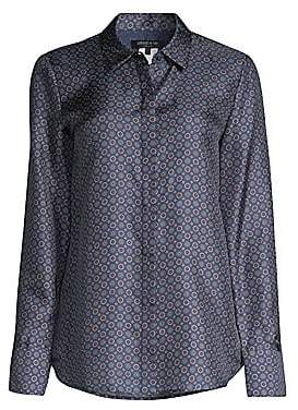 Lafayette 148 New York Women's Scottie Tile-Print Blouse