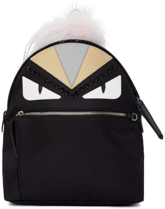 Fendi Black Bag Bugs Zaino Backpack