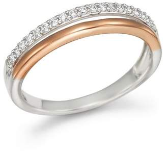 Bloomingdale's Diamond Double Row Band Ring in 14K White and Rose Gold, .12 ct .t.w. - 100% Exclusive