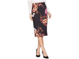ECI Floral Printed Scuba Skirt Women's Skirt