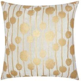Nourison Patterned Metallic Accent Pillow
