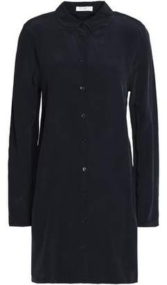 Equipment Washed-Silk Mini Shirt Dress