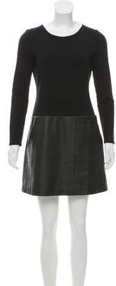 Theory Long Sleeve Mini Dress