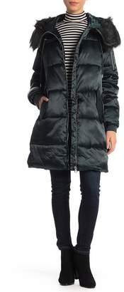 Jessica Simpson Faux Fur Trim Puffer Coat