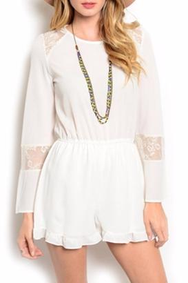 White Girly Romper $29 thestylecure.com