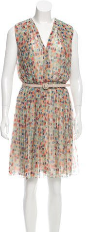 Christian Dior Geometric Print Silk Dress