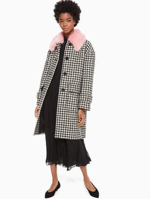 Kate Spade houndstooth wool coat