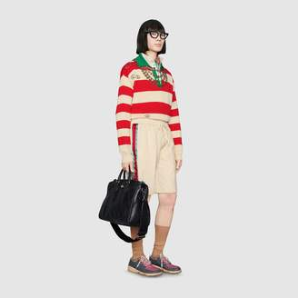 Gucci Cotton drill shorts with acetate stripe