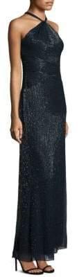Parker Black Lara Silk Halter Dress