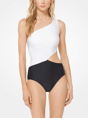 MICHAEL Michael Kors Color-Block Cutout Maillot