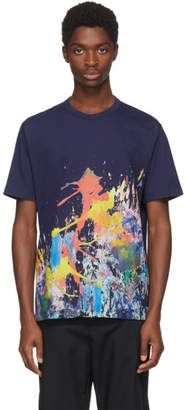 Junya Watanabe Navy Paint Splatter T-Shirt