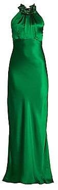 Saloni Women's Michelle Silk Halter Gown