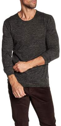 John Varvatos Collection Heathered Crew Neck Sweater