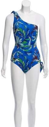 Emilio Pucci Patterned Halter Swimsuit w/ Tags