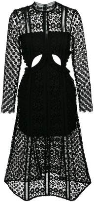 Self-Portrait Payne cut-out dress
