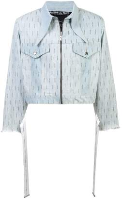 Maison The Faux fitted biker jacket