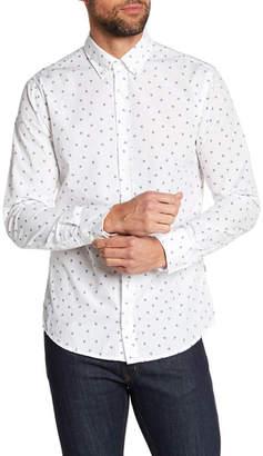 BOSS Preppy Hand Print Slim Fit Shirt