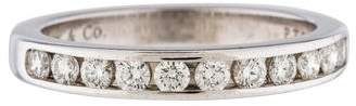 Tiffany & Co. Platinum Diamond Wedding Band Ring