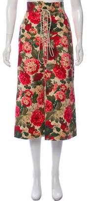 Vilshenko Floral Midi Skirt