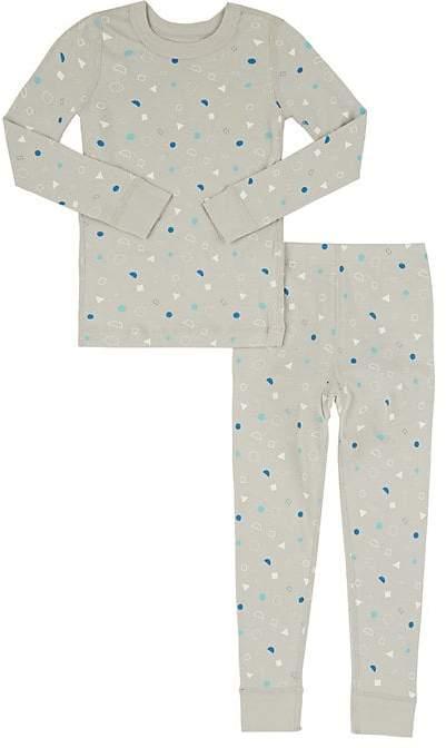 Skylar Luna Confetti-Print Cotton Long-Sleeve Top & Pants Set