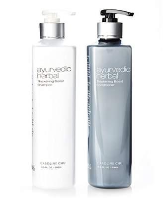 Caroline Chu Ayurvedic Herbal Thickening Boost Shampoo and Conditioner Duo