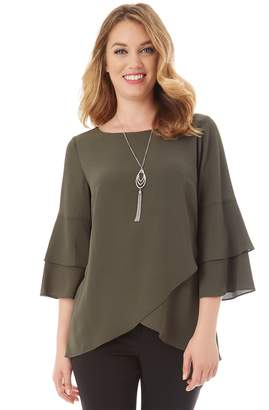 Apt. 9 Women's Tiered Tulip Hem Top