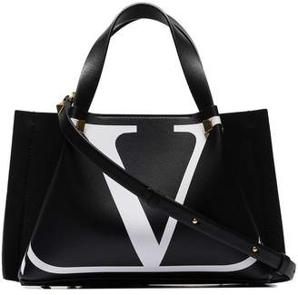 Valentino black Escape small leather tote