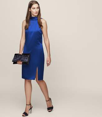 Reiss Mina Cowl-Back Shift Dress