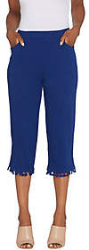 Factory Quacker French Terry Capri Pants withTassel Trim