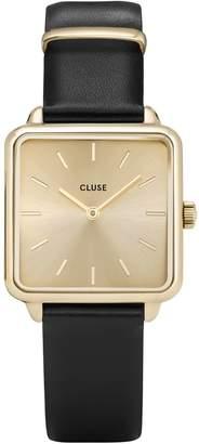 Cluse La Tetragone CL60004 Black Leather Square Analog Watch