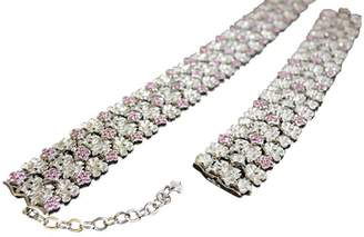 Carrera 18K White Gold Diamond And Pink Sapphire Collar Necklace & Bracelet Set