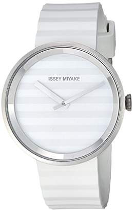 Issey Miyake 'Please' Quartz Stainless Steel and Polyurethane Casual Watch