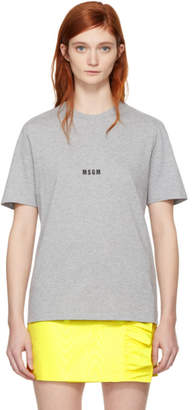 MSGM Grey Mini Logo T-Shirt