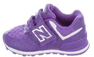 New Balance Girls' Knit Round-Toe Sneakers