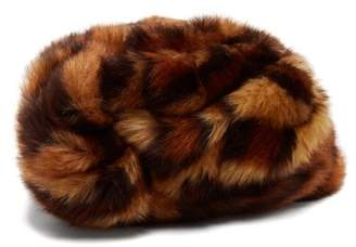 Gucci Leopard Print Faux Fur Turban - Womens - Brown