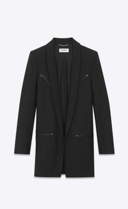 Saint Laurent Western-Style Jacket In Wool Gabardine