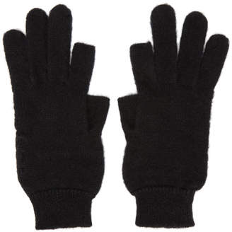 Rick Owens Black Alpaca Texting Gloves