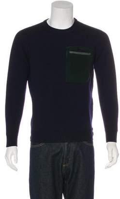 Fendi Fleece Patch Pocket Sweater