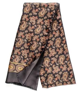 Black Lagundo Italian Paisley Silk Scarf
