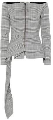 Roland Mouret Endfield checked wool-blend jacket