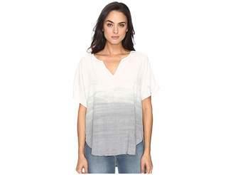 Michael Stars Haze Wash Modern Rayon Peasant Top Women's Clothing